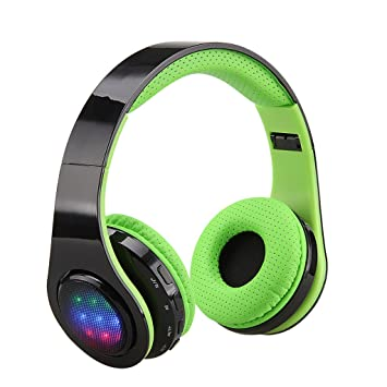 Excelvan Wireless LED Stereo Bluetooth Headphones Over Ear with Mic for  Kids Children Women Men ad04c970c2