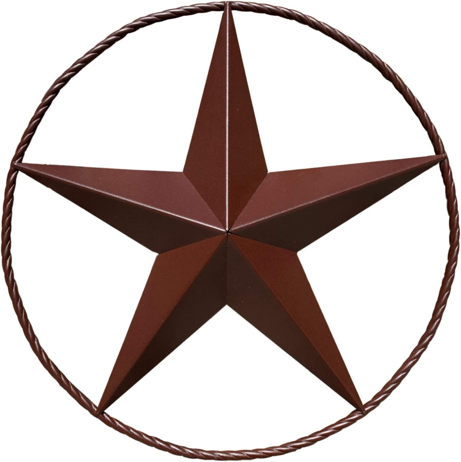 "EcoRise Barn Star - Metal Stars for Outside Texas Stars Art Rustic Vintage Western Country Home Farmhouse Wall Decor (36"")"