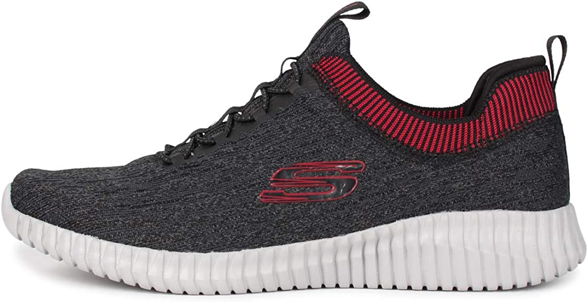 Skechers Men's 52642 Trainers Black Black Red Bkrd