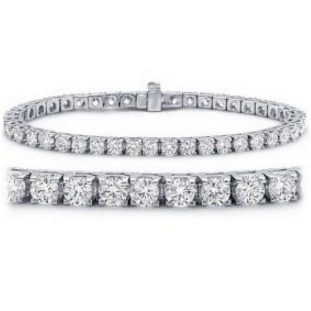 4 Carat Classic Diamond Tennis Bracelet 14K White Gold Value Collection by Houston Diamond District