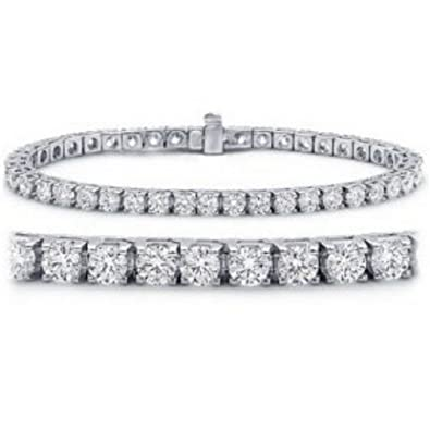 Amazon 10 Carat Classic Diamond Tennis Bracelet 14K White