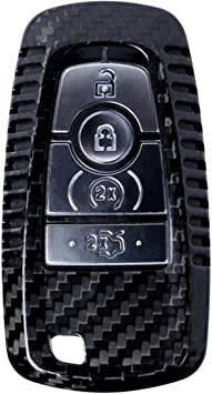 Real Carbon Fiber Remote Key Shell Cover Case for Ford Mustang Edge F150 Fusion