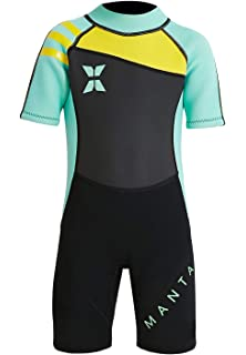 DIVE   SAIL Kids 2.5mm Warm Wetsuit One Piece UV Protection Shorty Suit d282c887b