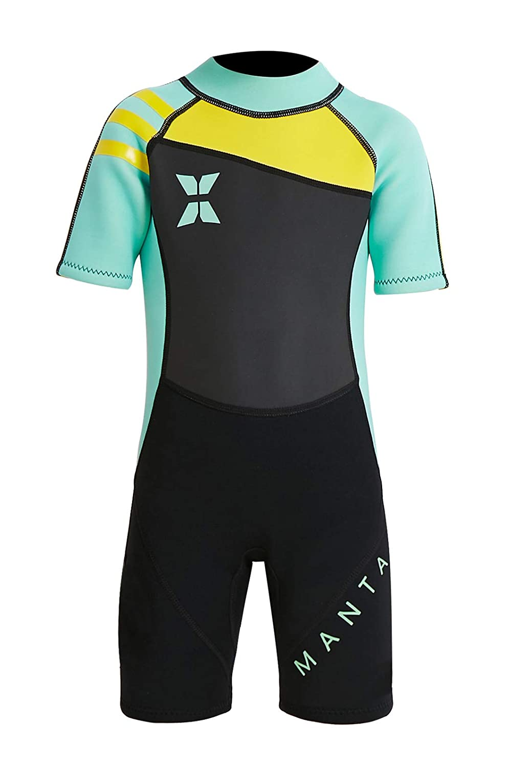 Dive & Sail Kids 2.5 MM Warm Wetsuit One Piece UV保護Shorty Suit B07DJ6LRMY グリーン XX-Large