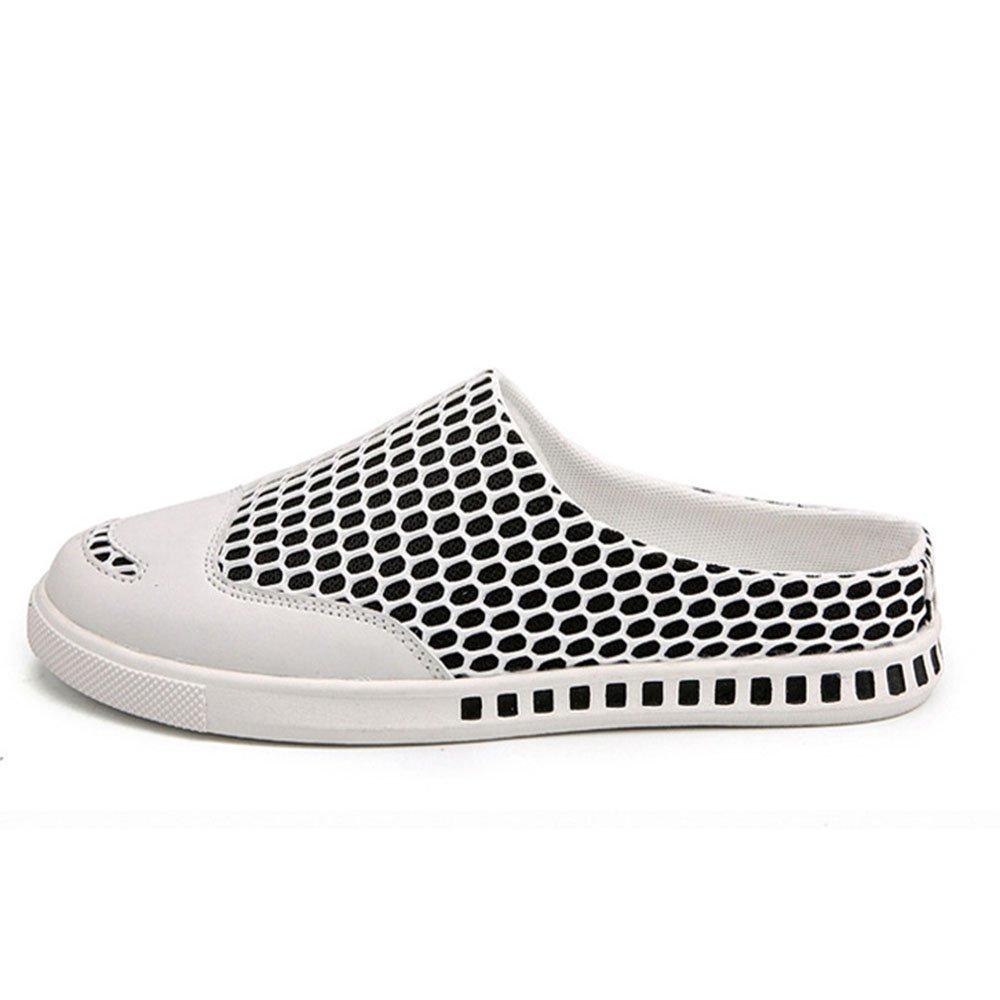 Sandalias Zapatos Casuales para Hombres Medias Pantuflas Transpirables 42 EU|Blanco