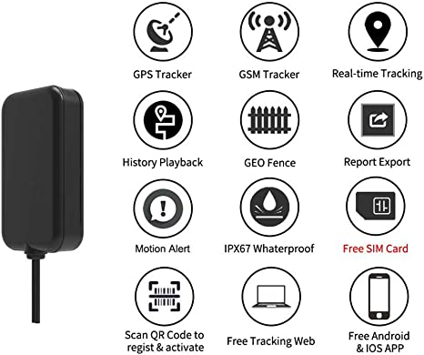 COOLOUS T0026 Mini GPS Tracker Smallest Waterproof Mini Portable Installation GPS GSM Online Real-time Tracking Device for 12-24V Car Truck Motorcycle COOLOUS INC