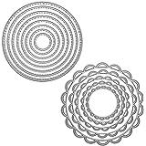 FineGood 2 Piezas de Plantilla Metal de Plantilla Corte de Troqueles, Herramienta de grabación en Relieve para Hacer Tarjetas de Scrapbooking Papel de álbum de Bricolaje