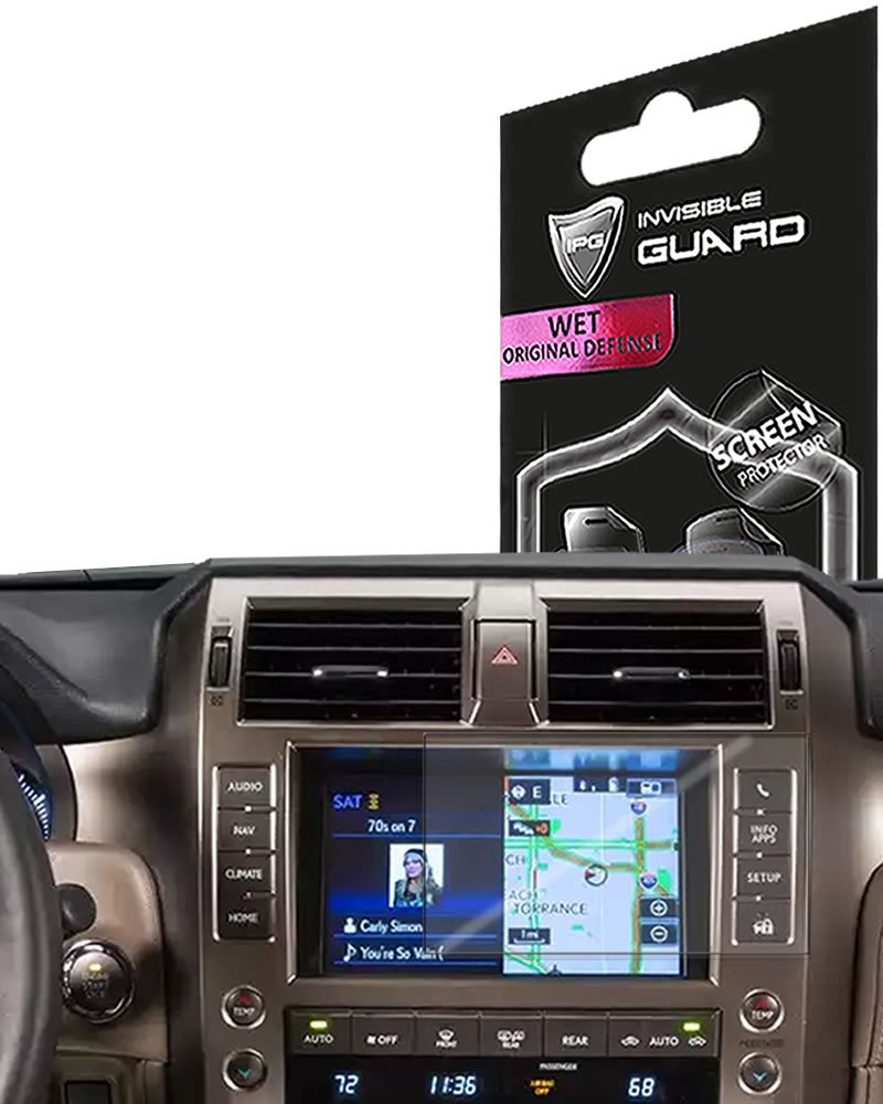 Smooth//Self-Healing//Bubble IPG for Lexus 2017 GX 460 Navigation Display Touch Screen Radios Screen Protector Invisible Ultra HD Clear Film Anti Scratch Skin Guard Free