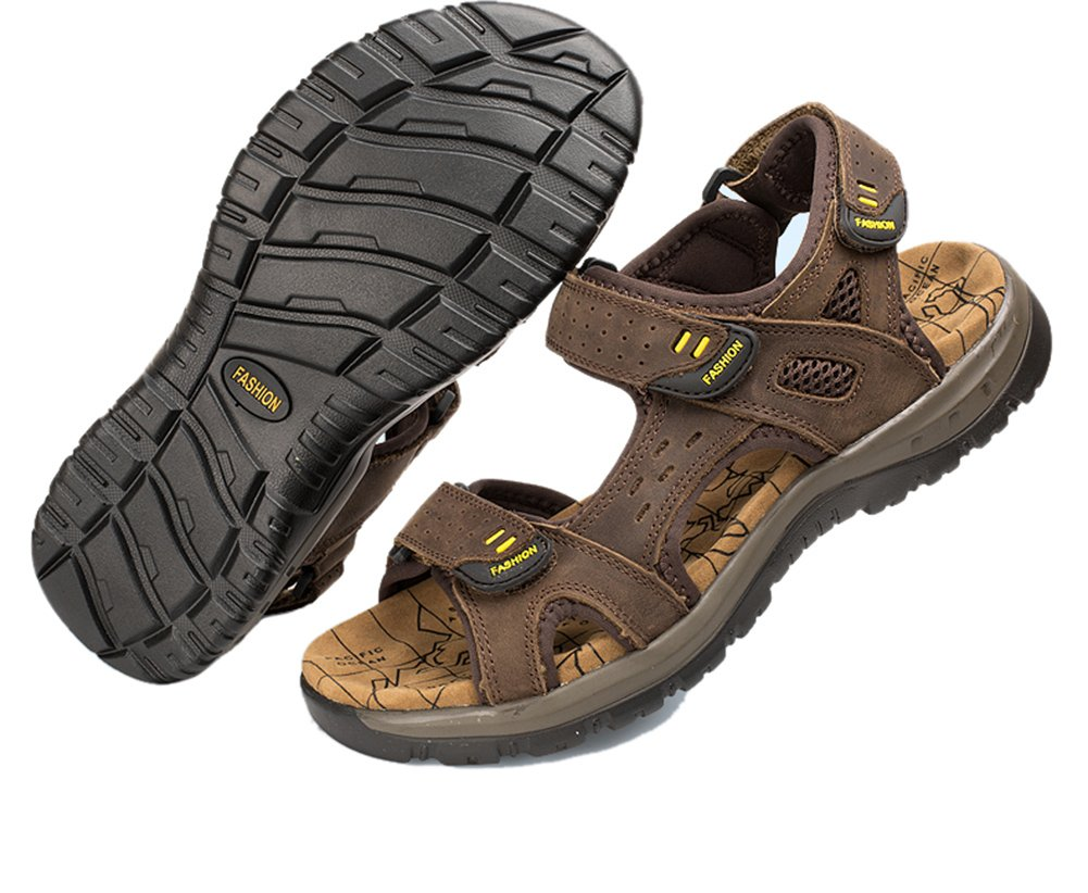 Agowoo Womens Leather Ankle Strap Beach Hiking Sandals: Amazon.ca: Shoes &  Handbags
