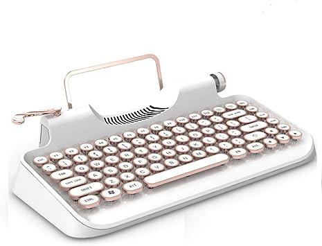 Teclado Mecánico Bluetooth, Máquina De Escribir Retro, Teclado Mecánico Inalámbrico, Teclas Compactas 83, Interfaz USB Dual