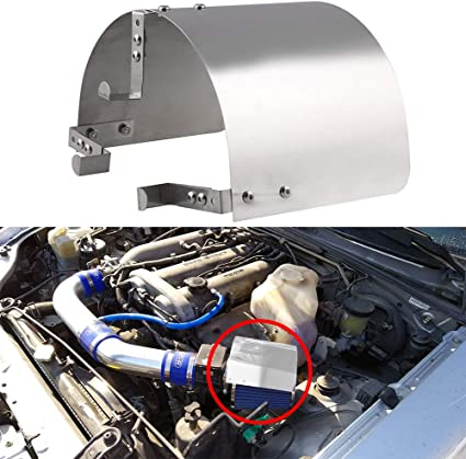 """5.5/"""" Cone Car Heat Shield Air Intake Filters Cover Stainless Universal 2.5/'/'"""