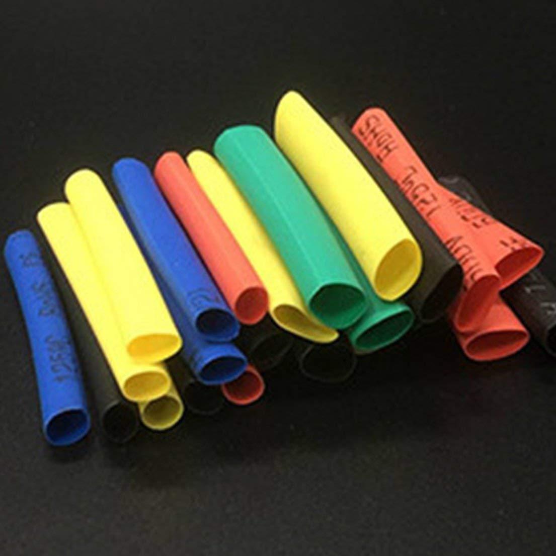 Gaine Isolante Tuyauterie gain/ée fix/ée au Fil denroulement de Tube thermor/étractable Couleur: Multicolore DF-FR 328 Pcs//Pack Tuyau thermor/étractable r/étractable en polyol/éfine Assorti