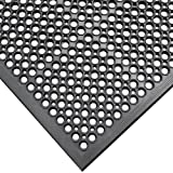 Rubber-Cal 03_122_WBK 1/2-inch Dura Chef Anti-Slip Rubber Kitchen Mat, 1/2'' x 36'' x 60'', Black