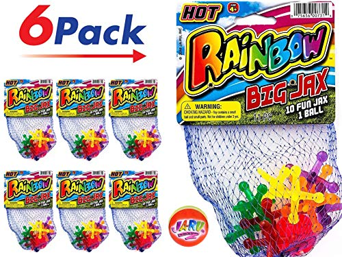 JA-RU Jax Toy Big (6 Packs) Jacks. | Item #731-6