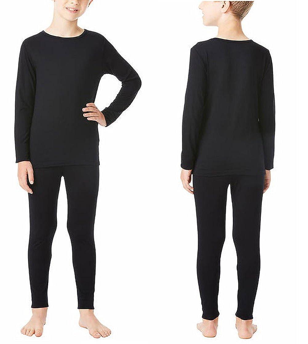 32 Degrees Weatherproof Big Boys Base Layer Thermal Shirt Long Underwear Set, Black Small Black Small 32Degree_Boys_Small-P