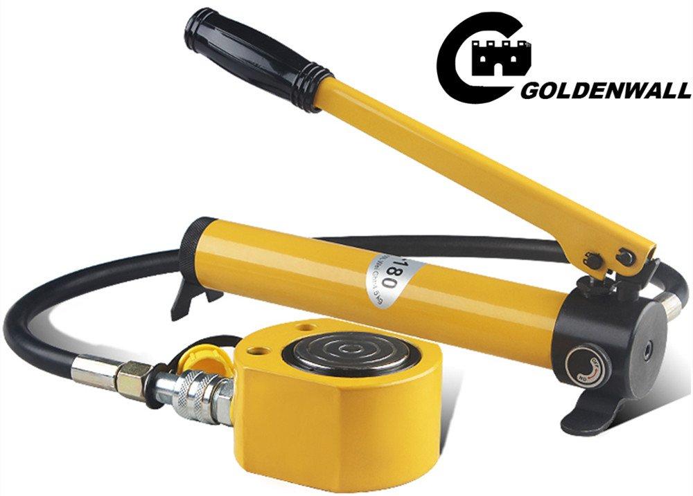 CGOLDENWALL 油圧式ジャッキ50t ブリッジ超薄型油圧シリンダ ポンプ付 7-20mm (FPY-50T) B074WKVR4D FPY-50T