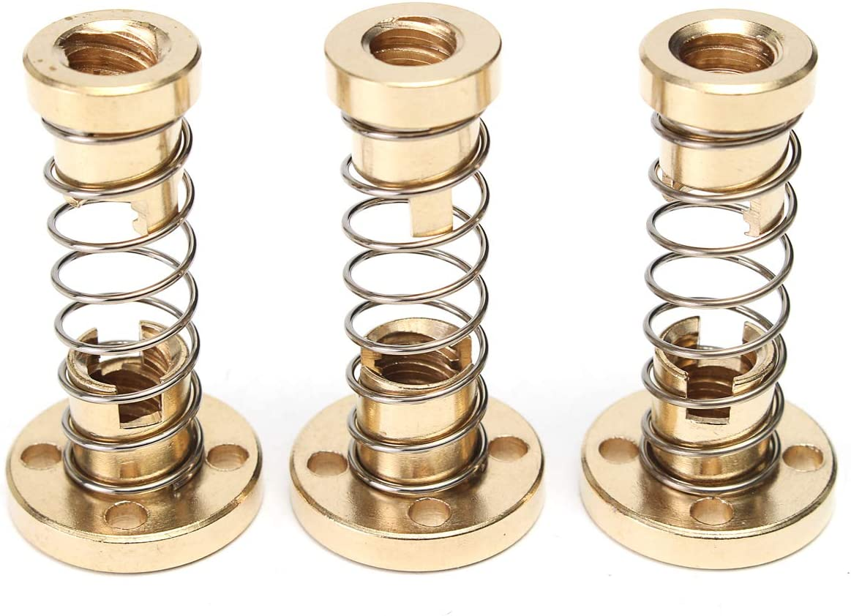MYAMIA T8 Lead Screw Nut R/églable 2mm//4mm//8mm Lead Nut Anti-Backlash Spring Loaded Nut-4mm