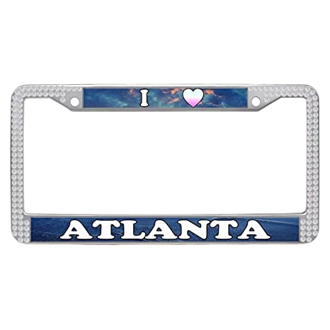 Amazon.com: Dasokao License Plate Frames, ATLANTA Funny Car License ...