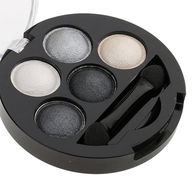 MagiDeal 5 Color Paleta Metálico Sombra de Ojos Maquillaje Shimmer Sombreador de Ojos - 6: Amazon.es: Belleza