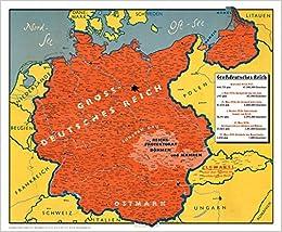Wandkarte Grossdeutsches Reich 1939 Amazon De Ba Cher