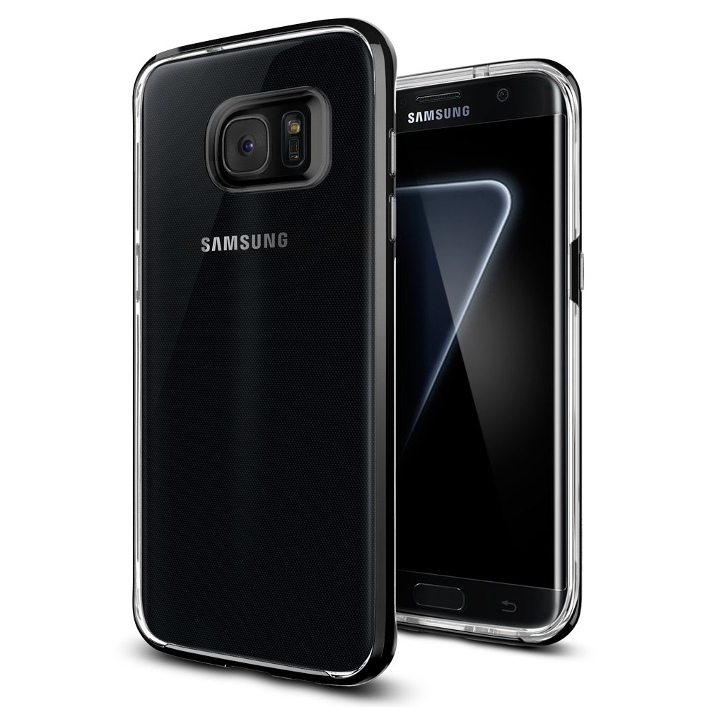 brand new 8ee26 8c9f2 Spigen Neo Hybrid Crystal Designed for Samsung Galaxy S7 Edge Case (2016) -  Black Pearl