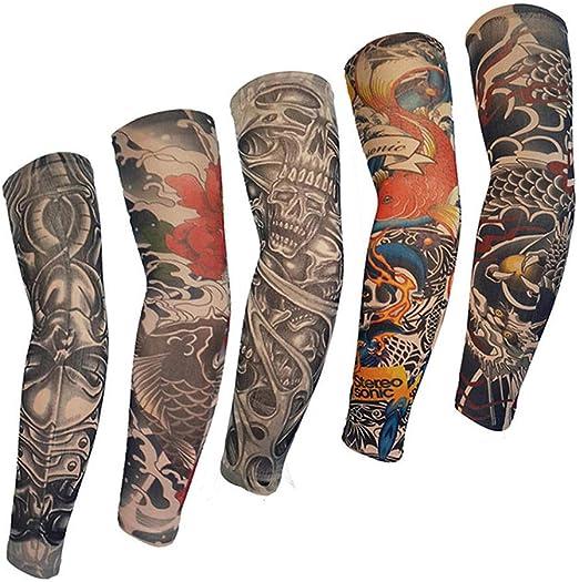 Mzqaxq Tattoo Sleeve 5 Unids Manga Brazo Brazalete Falso Tatuajes ...
