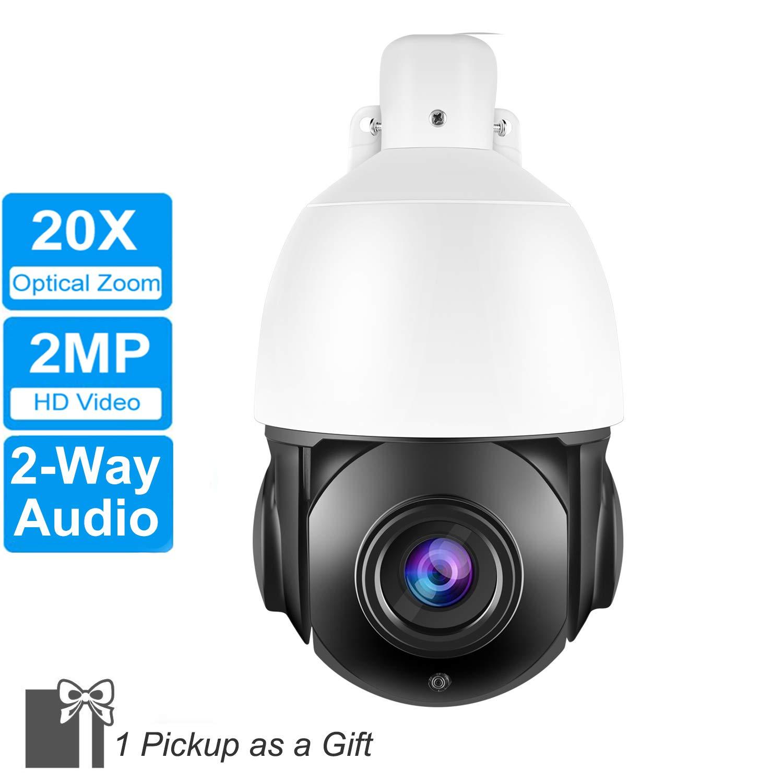 0122bf31146 Amazon.com   4 Inch Ultra HD 20X 2MP PTZ IP Camera Outdoor H.265 Network  ONVIF Speed Dome 20X Zoom PTZ IP Camera CCTV 70m IR Night Vision   Camera    Photo