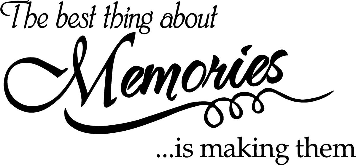 Amazon.com: The Best Thing About Memories Is Making Them Wall Quote Wall  Decals Wall Decals Quotes: Home U0026 Kitchen