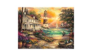 Buffalo Games - Chuck Pinson - Cottage By The Sea - 1000 Piece Jigsaw Puzzle