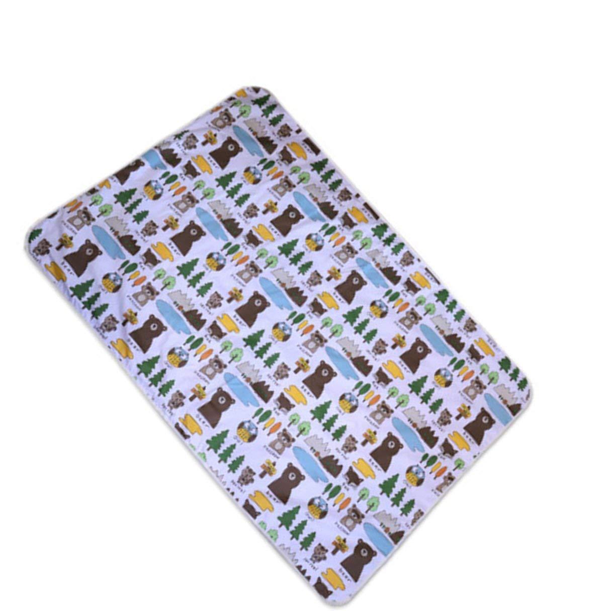 110 * 158 cm Almohadillas Cambiantes para Niños Pequeños Cubierta de 3 Capas Cambio de Pañal Suave Sábana Impermeable Cambio Reutilizable Estera de Juego: ...