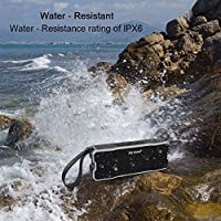 Bluetooth Speaker, IPX7 Water Resistant Myvision Outdoor Portable Stereo Speaker with HD Sound and Bass,Built-in Mic,Wireless Bluetooth 4.2/ Hands Free Calling/TF Card Slot(Black) from Myvision
