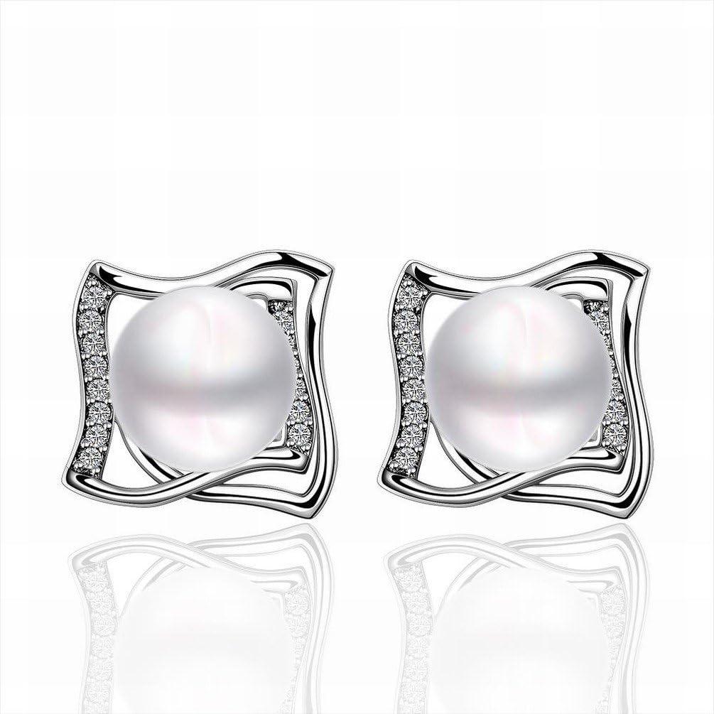 JJHVUGI Blanco Perla / Pendientes / Diamantes / Perla / Pendientes / Piedras Preciosas