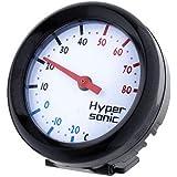 Hypersonic® HP-2109 Universal THERMOMETER Racing Design SCHWARZ 360° drehbar fürs Auto PKW LKW Boot Wohnmobil oder Wohnung / Büro Termometer