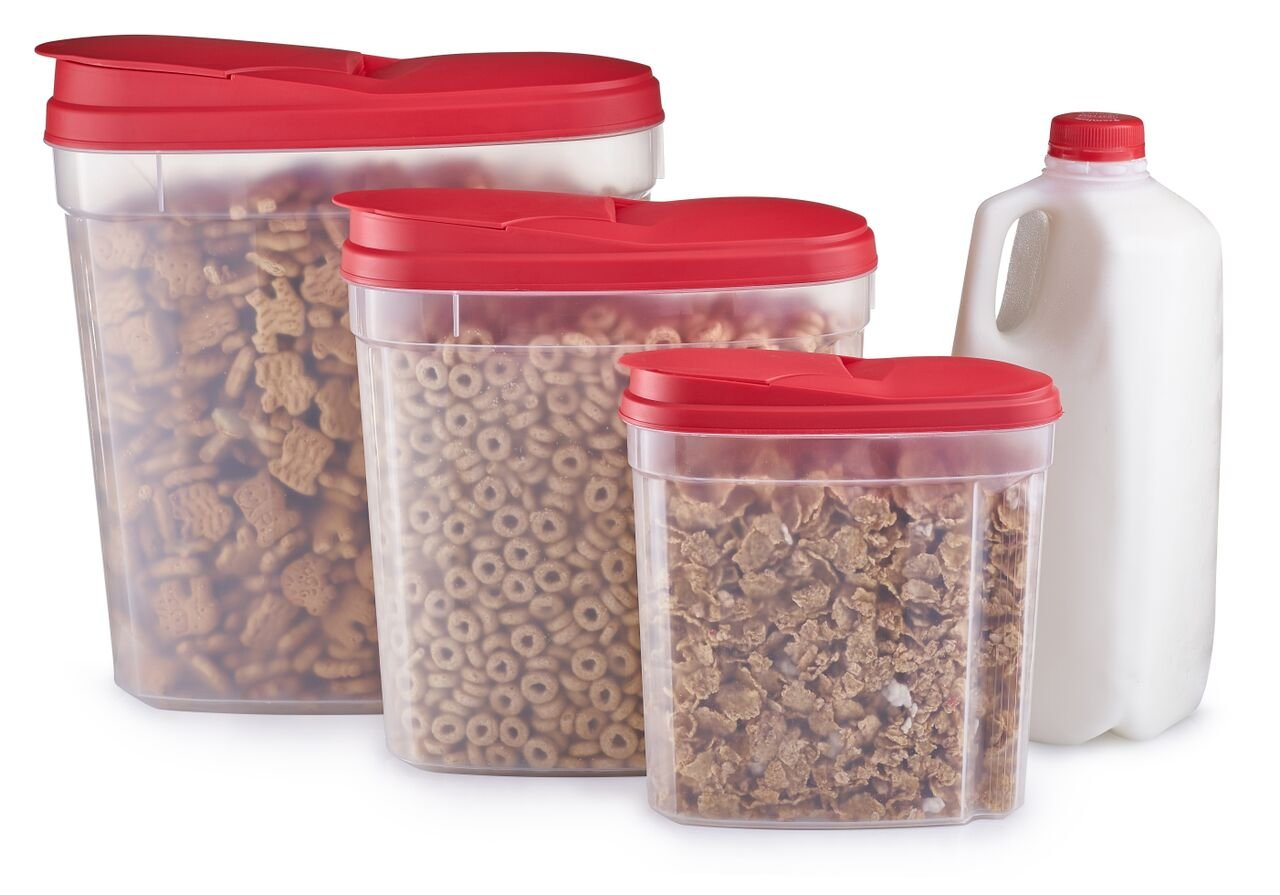 Home Quality 3 Piece Cereal Set With Lids