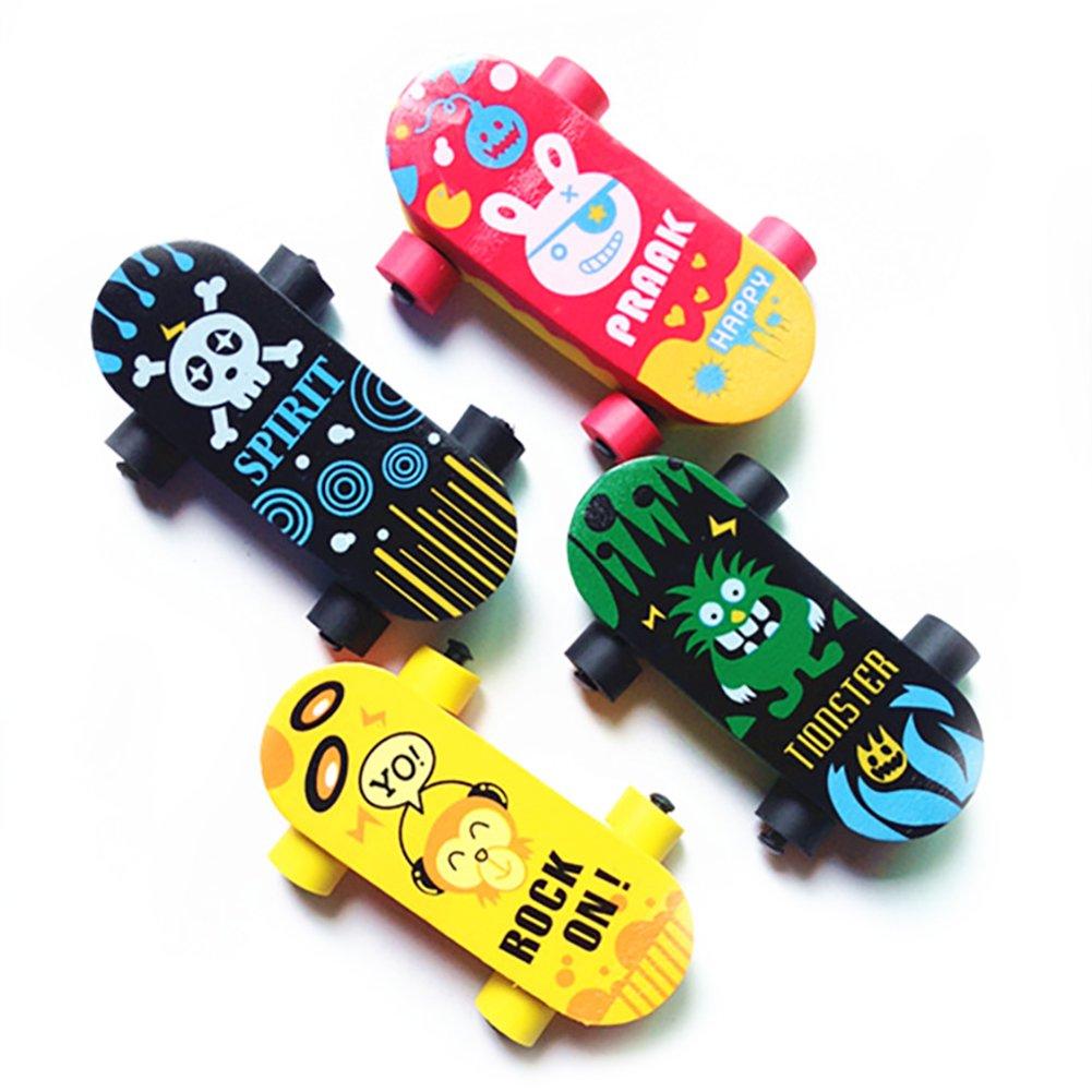 Creative Cute Kawaii Skateboard Rubber Eraser For Kid Gift Novelty Item School Supplies Brilliant Stationery 5 Pcs Rocita