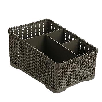 TAOtTAO - Caja de almacenamiento de plástico para oficina, D, 19 * 14 *