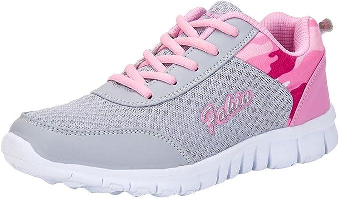 Zapatos Mujer,Las Mujeres de Malla de Moda Ronda Cruzada Correas Planas Zapatillas Zapatillas Deportivas Zapatos Casuales (39 EU, Rosado): Amazon.es: Ropa y accesorios