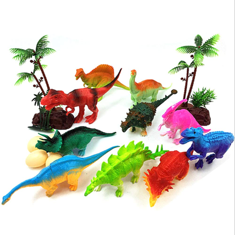 Mighty Dinosaur Figure Toys | Educational Learning Kit | Cupcake Topper/Birthday Cake Topper Decorations |Dinosaur Theme Party | Easter Egg Filler | Set of 18