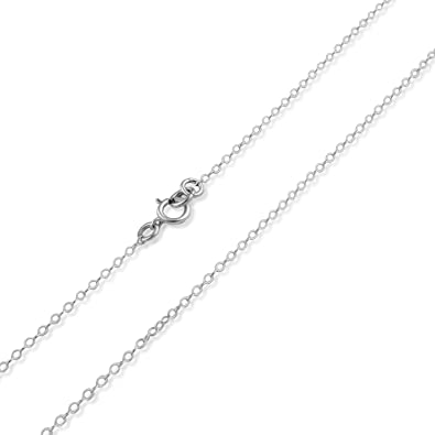 Sterling Silver 24in 1mm Cable Necklace Chain