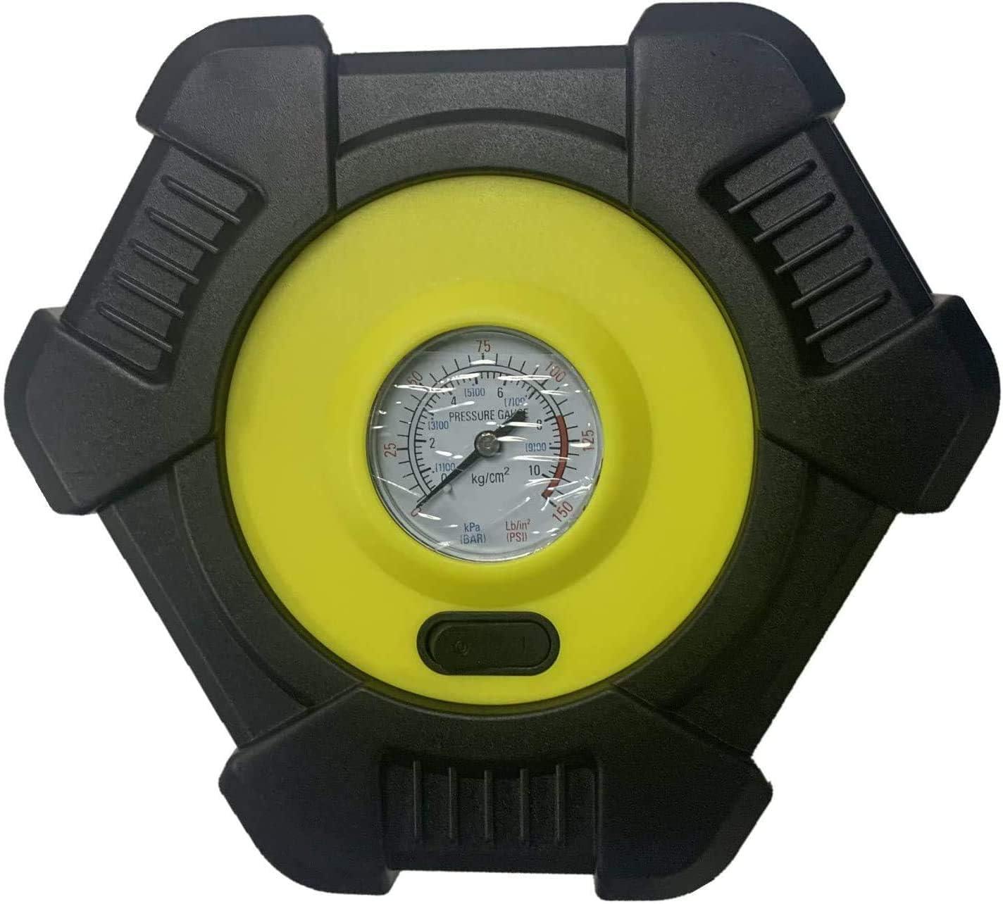 Yaber Auto Luftpumpe 12v Luftkompressor Tragbarer Auto Kompressor 150psi Mit Lcd Display Und Led Taschenlampe Für Auto Fahrrad Motorrad Ball Auto