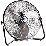 Whole Room Elegant Small Portable 3 Speed Control 20 Floor Fan, Silver