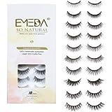 10 Styles Faux Mink Lashes Mix 10 Pairs False Eyelashes Natural Look 3D Small Face Eyelashes Short Soft Fake Lashes 100…