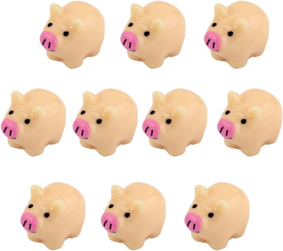 10pcs Miniature Mother Pig Dollhouse Bonsai Garden Landscape
