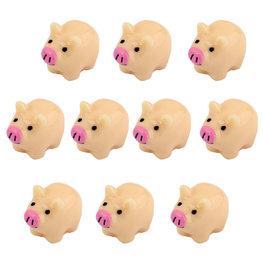 Lot de 10pcs Cochon Mère Miniature Décor pour Micro Paysage Bonsaï DIY Bricolage Générique