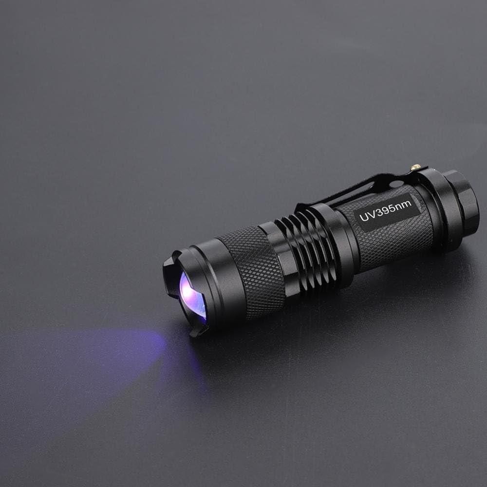 Zoomable 365 Presque comme neuf 395 Presque comme neuf blacklight marqueur fluorescent Flash DEL Torche UV Lampe de Poche