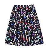 Search : YJQ Women's Dog Print Midi Skirt Animal Print Skater Pleated Skirt