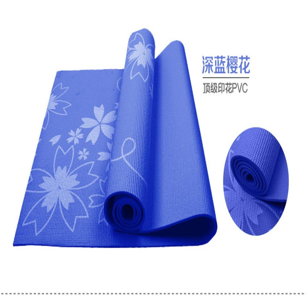 SLGJYY Schönes Design Kirsche Yoga Matte 6mm PVC Yoga Matte Anfänger Verwenden