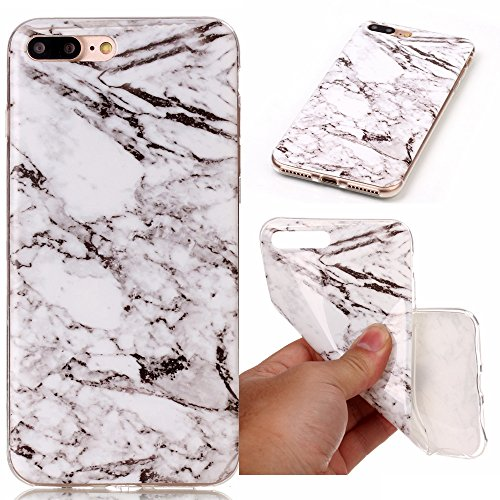 iPhone 7 Plus Case, SUMOON [Marble Series] Ultra Slim Shockproof Bumper TPU Soft Case Rubber Silicone Skin Cover for iPhone 7 Plus 2016 (White)