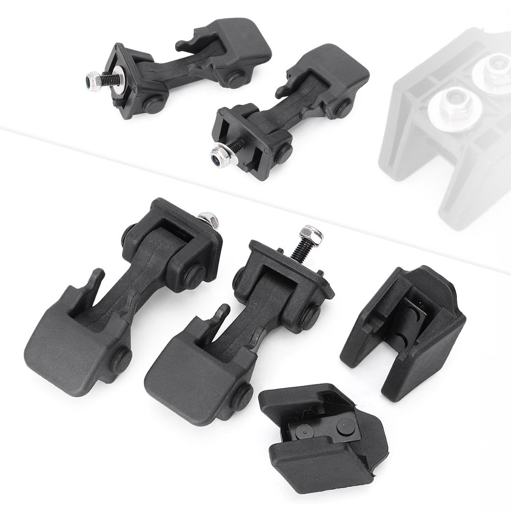 Timmart Lower Hood Latches & Upper Hood Catch Brackets For 1997-2006 Jeep Wrangler Tj by Timmart (Image #1)