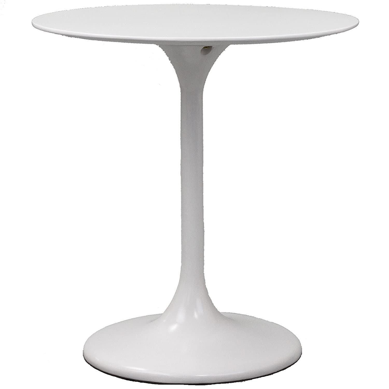 Amazon.com   Modway Lippa 28 Inch Fiber Glass Dining Table, White   Tables